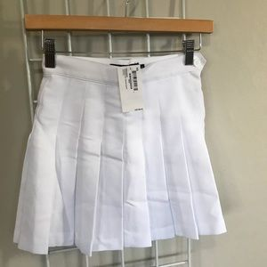 NWT American Apparel White Tennis Skirt XS